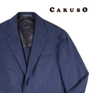 CARUSO ジャケット メンズ 秋冬 48/L ネイビー 紺 カシミヤ混 クルーゾ 並行輸入品|utsubostock