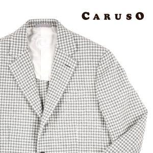 【46】 CARUSO カルーゾ ジャケット メンズ 秋冬 千鳥 ホワイト 白 並行輸入品 アウター トップス utsubostock