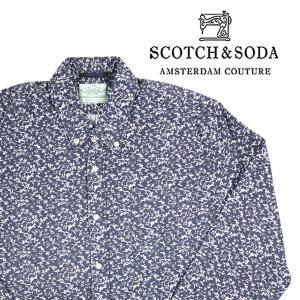 SCOTCH&SODA 長袖シャツ 20047 navy L【A11002】|utsubostock