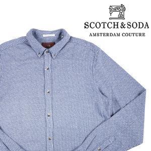 SCOTCH&SODA 長袖シャツ メンズ 秋冬 L/48 ブルー 青 スコッチアンドソーダ 並行輸入品|utsubostock