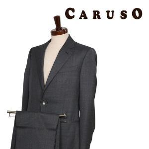 CARUSO スーツ メンズ 秋冬 48/L グレー 灰色 クルーゾ 並行輸入品|utsubostock