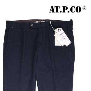 【46】 AT.P.CO アティピコ コットンパンツ メンズ 秋冬 ネイビー 紺 並行輸入品 ズボン|utsubostock