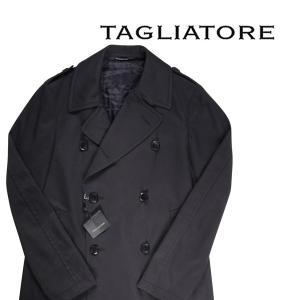 TAGLIATORE コート メンズ 秋冬 50/XL ブラック 黒 88UIR015 タリアトーレ 並行輸入品|utsubostock