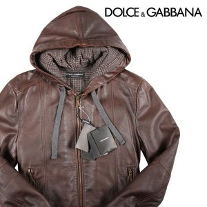 Dolce&Gabbana ブルゾン メンズ 秋冬 44/S ブラウン 茶 レザー ドルチェ&ガッバーナ アウトレット 並行輸入品|utsubostock