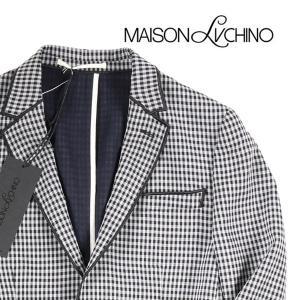 【50】 maisonlvchino ジャケット メンズ チェック ブラック 黒 並行輸入品 アウター トップス|utsubostock