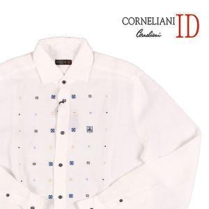 CORNELIANI リネン100% 長袖シャツ 611028828 white 41【S11260】|utsubostock