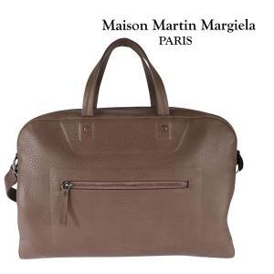 Martin Margiela レザー ボストンバッグ S36WD0084 brown【A11268】|utsubostock