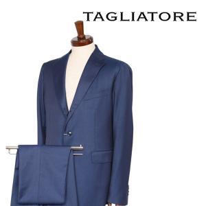 TAGLIATORE スーツ メンズ 50/XL ブルー 青 REDA社素材使用 06UPZ169 タリアトーレ 並行輸入品|utsubostock