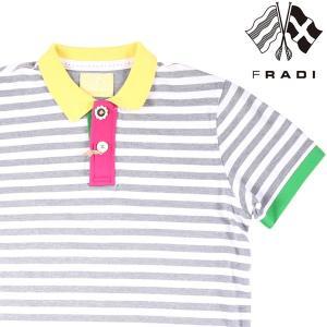 FRADI 半袖ポロシャツ メンズ 春夏 XL/50 グレー 灰色 フラディ 並行輸入品|utsubostock