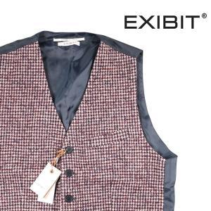 【XXL】 EXIBIT エグジビット ジレ メンズ 秋冬 千鳥 レッド 赤 並行輸入品 ベスト 大きいサイズ|utsubostock