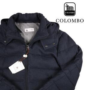 COLOMBO ダウンジャケット メンズ 秋冬 50/XL ネイビー 紺 カシミヤxシルク混 コロンボ 並行輸入品|utsubostock
