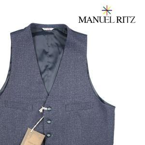 【50】 MANUEL RITZ マニュエル リッツ ジレ メンズ 秋冬 ネイビー 紺 並行輸入品 ベスト|utsubostock