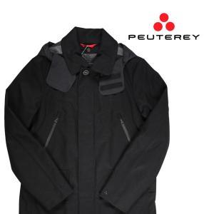 PEUTEREY コート メンズ 秋冬 48/L ブラック 黒 PEU1793 ピューテリー 並行輸入品|utsubostock