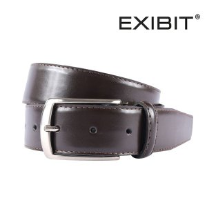 EXIBIT エグジビット ベルト メンズ レザー ブラウン 茶 並行輸入品|utsubostock