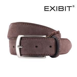 EXIBIT ベルト メンズ ブラウン 茶 レザー エグジビット 並行輸入品|utsubostock