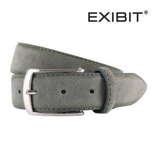 EXIBIT ベルト メンズ カーキ レザー エグジビット 並行輸入品|utsubostock