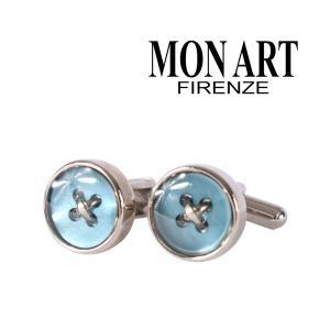 MONART カフス メンズ ブルー 青 モナート 並行輸入品|utsubostock