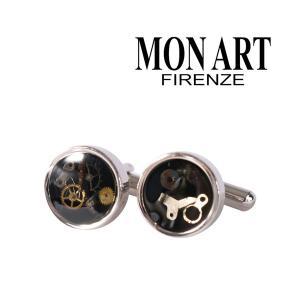 MONART カフス メンズ ブラック 黒 モナート 並行輸入品|utsubostock
