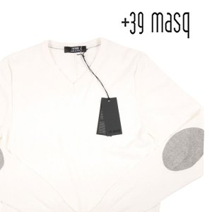 【M】 +39 masq マスク Vネックセーター メンズ 春夏 ホワイト 白 並行輸入品 ニット|utsubostock