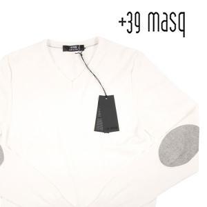 【S】 +39 masq マスク Vネックセーター メンズ 春夏 ホワイト 白 並行輸入品 ニット|utsubostock