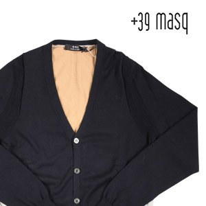【M】 +39 masq マスク カーディガン メンズ 春夏 ネイビー 紺 並行輸入品 ニット|utsubostock