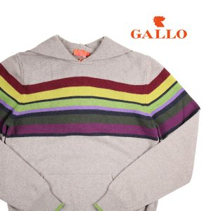 GALLO 丸首セーター メンズ 秋冬 S/44 ベージュ カシミヤ混 ガロ 並行輸入品|utsubostock