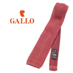 GALLO ネクタイ メンズ レッド 赤 シルク100% ガロ 並行輸入品|utsubostock