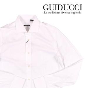 【39】 GUIDUCCI グイドゥッチ 長袖シャツ メンズ ホワイト 白 並行輸入品 ビジネスシャツ|utsubostock