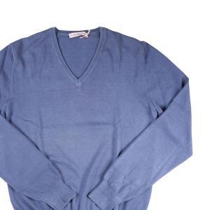 【48】 ALLEN BROOKS アレンブルックス Vネックセーター メンズ ブルー 青 並行輸入品 ニット|utsubostock