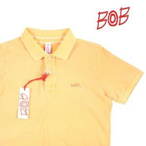 BOB 半袖ポロシャツ メンズ 春夏 XS/42 イエロー 黄 BACK DIS152 ボブ 並行輸入品|utsubostock