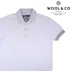 WOOL&CO 半袖ポロシャツ メンズ 春夏 XL/50 ホワイト 白 ウールアンドコー 並行輸入品|utsubostock