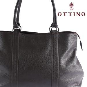 Ottino トートバッグ メンズ ブラウン 茶 オッティーノ 並行輸入品|utsubostock