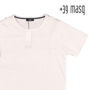 【XL】 +39 masq マスク Uネック半袖Tシャツ メンズ 春夏 ホワイト 白 並行輸入品 トップス|utsubostock