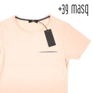 【XL】 +39 masq マスク Uネック半袖Tシャツ メンズ 春夏 ピンク 並行輸入品 トップス|utsubostock