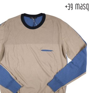 【L】 +39 masq マスク 丸首セーター メンズ ベージュ 並行輸入品 ニット|utsubostock