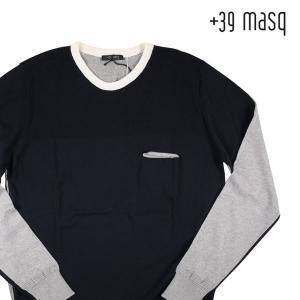 【XL】 +39 masq マスク 丸首セーター メンズ ネイビー 紺 並行輸入品 ニット|utsubostock