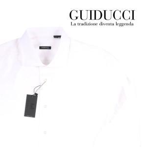 GUIDUCCI 長袖シャツ メンズ 45/5XL ホワイト 白 グイドゥッチ 大きいサイズ 並行輸入品|utsubostock