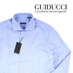 GUIDUCCI 長袖シャツ メンズ 44/4XL ブルー 青 グイドゥッチ 大きいサイズ 並行輸入品|utsubostock