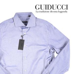 【39】 GUIDUCCI グイドゥッチ 長袖シャツ メンズ ネイビー 紺 並行輸入品 ビジネスシャツ|utsubostock
