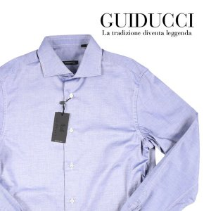 【42】 GUIDUCCI グイドゥッチ 長袖シャツ メンズ ネイビー 紺 並行輸入品 ビジネスシャツ 大きいサイズ|utsubostock