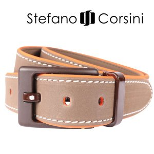 Stefano Corsini ベルト BICOLOR AMD brown 135 12617BR【A12627】|utsubostock