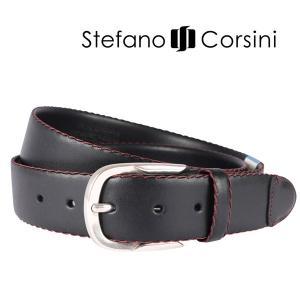 Stefano Corsini ベルト VN/14 black 100 12653BK【A12653】|utsubostock
