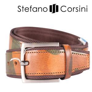 Stefano Corsini ベルト メンズ 迷彩 ステファノ・コルシーニ 並行輸入品|utsubostock