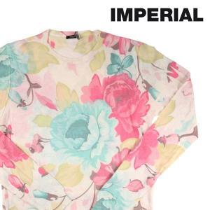 【M】 IMPERIAL インペリアル 丸首セーター メンズ 花柄 ベージュ 並行輸入品 ニット|utsubostock