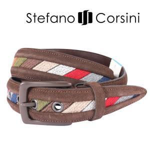 Stefano Corsini ステファノ・コルシーニ ベルト メンズ ブラウン 茶 並行輸入品|utsubostock