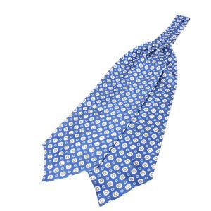 STILNOVO アスコットタイ メンズ ブルー 青 シルク100% スティルノーボ 並行輸入品|utsubostock