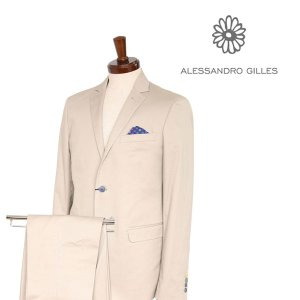 ALESSANDRO GILLES スーツ A4SD beige 50【A12849】|utsubostock