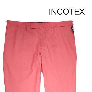 【52】 INCOTEX インコテックス コットンパンツ 1WT82T メンズ 春夏 レッド 赤 並行輸入品 ズボン 大きいサイズ|utsubostock