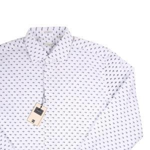 Himon's 長袖シャツ メンズ 43/3XL ホワイト 白 ヒモンズ 大きいサイズ 並行輸入品|utsubostock