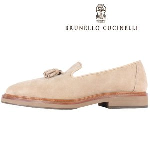 BRUNELLO CUCINELLI タッセルローファー メンズ 42.5/27.0cm ベージュ MZUKUDP988 ブルネロクチネリ 並行輸入品|utsubostock
